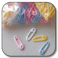 "144 pc 2.5"" diaper pins(asstd)"