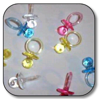 144 pc clear pacifiers(asstd colors)