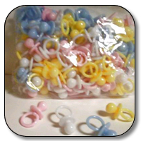 144 pc solid pacifiers(asstd )