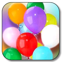 144 Count 12 Inch Latex Balloons - Basic