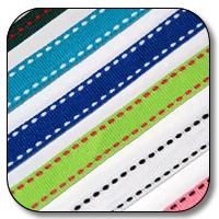 3/8 Inch x 25 Yards Topstitch Grosgrain (16 colors avail)